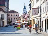 Ciudad de Kranj en Eslovenia