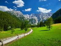 Área perto de Kranj na Eslovênia