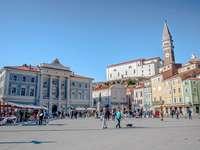 Ciudad costera de Piran Eslovenia