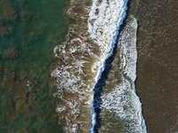 vista aerea de las olas del mar