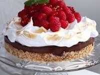 κέικ με σμέουρα