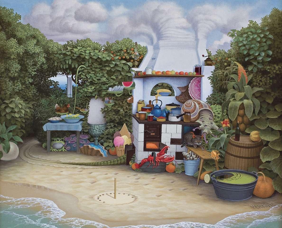 """Summer kitchen - """"Summer kitchen"""" by Jacek Yerka (11×9)"""