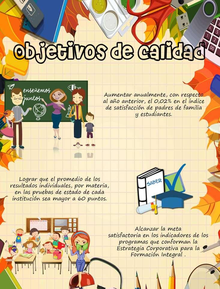 OBJETIVOS DE CALIDAD - Objetivos de calidad del colegio El Minuto de Dios Ciudad Verde (6×9)