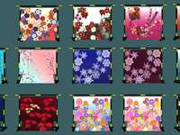 Cheio de padrões japoneses