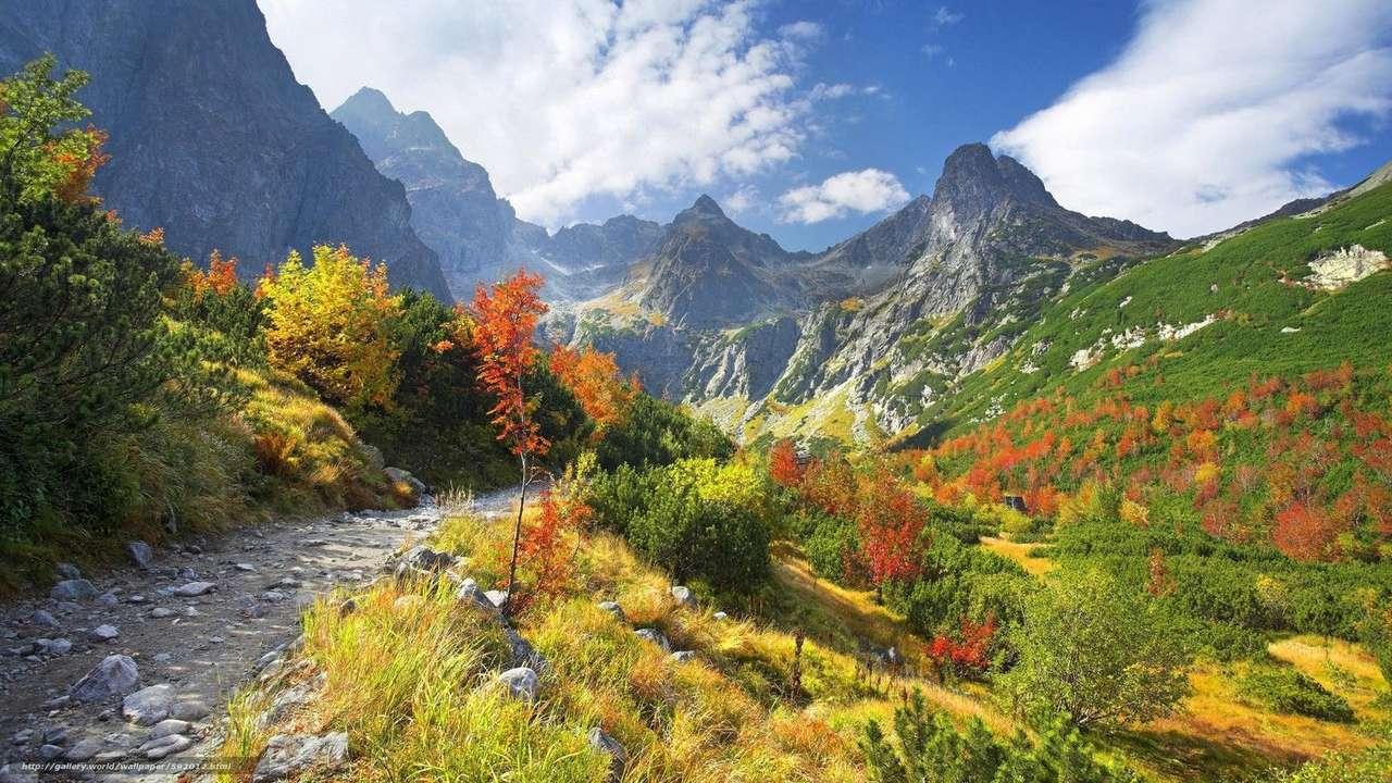 paisaje de montaña - naturaleza con vista a la montaña (16×9)