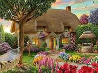 trädgård framför huset