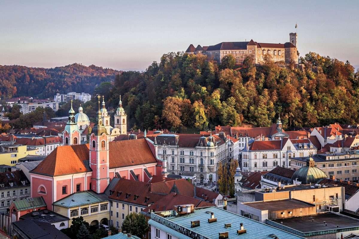 Lublaň ve Slovinsku (16×11)