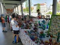 Ljubljana Marktstände Slowenien