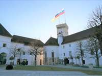 Ljubljana slottkulle Slovenien