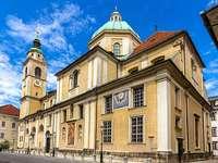 Lublaňský kostel Slovinsko