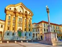 Lublaňský kostel Nejsvětější Trojice Slovinsko