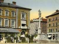 Lublaň stará pohlednice Slovinsko