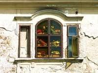 Lublaň staré okno domu Slovinsko