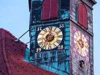 Torre dell'orologio della città vecchia di Lubiana, Slovenia