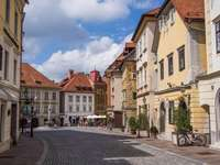 Stare miasto w Lublanie w Słowenii
