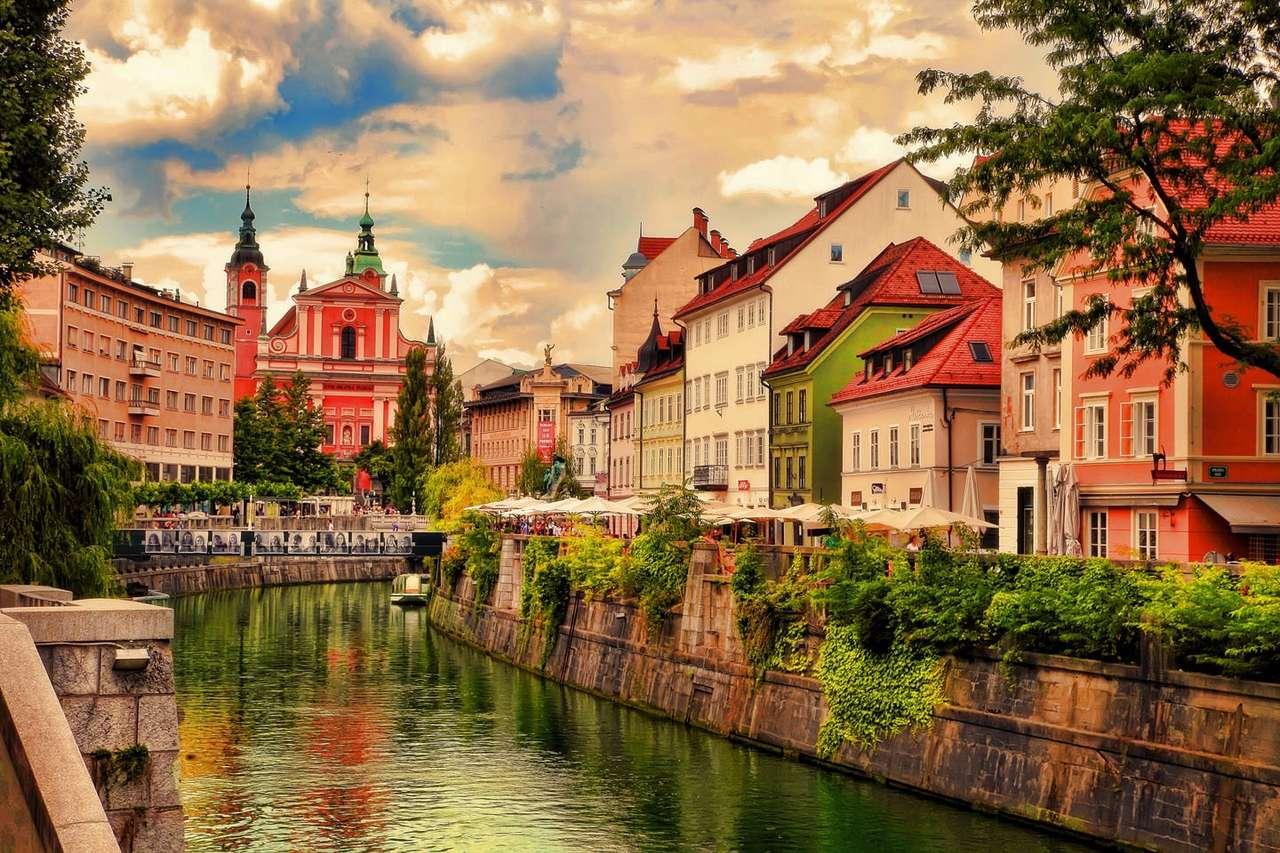 Hlavní město Lublaně ve Slovinsku (16×11)