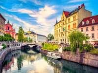 Ljubljana huvudstad i Slovenien