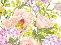 Ζωγραφική ανοιξιάτικα λουλούδια
