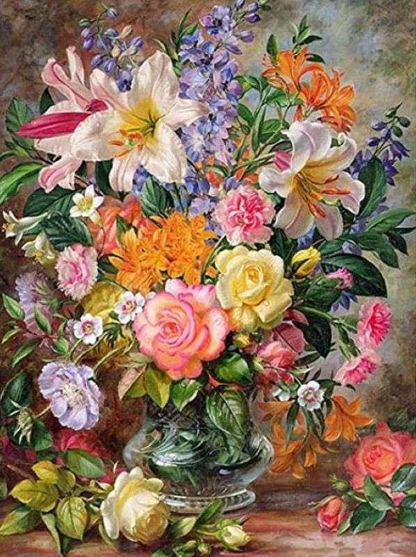 Malowanie wazonów z kwiatami (8×12)