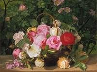 Ciotola per pittura con fiori