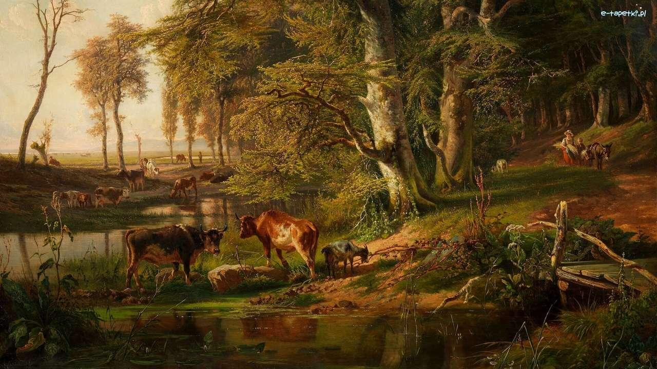 nella foresta - m (14×8)