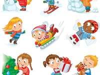 Children's games in winter