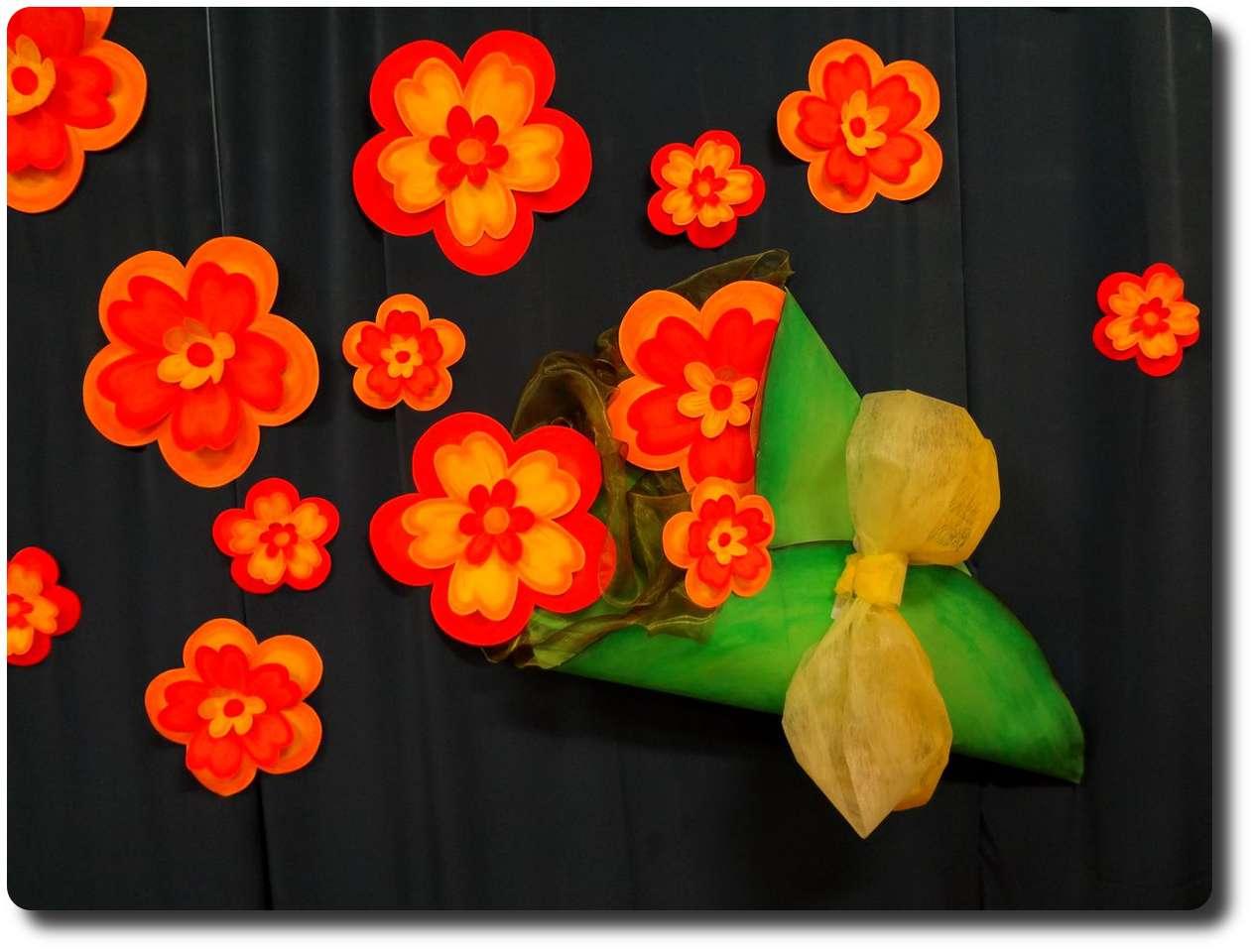 Dzień Babci i Dziadka - Laurka dla Babci i Dziadka, kolorowe kwiatki (3×3)