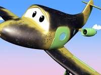Samolot puzzle dla dzieci