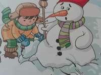 Καταπληκτικός χιονάνθρωπος