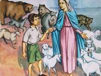 Juanito y la virgen Maria