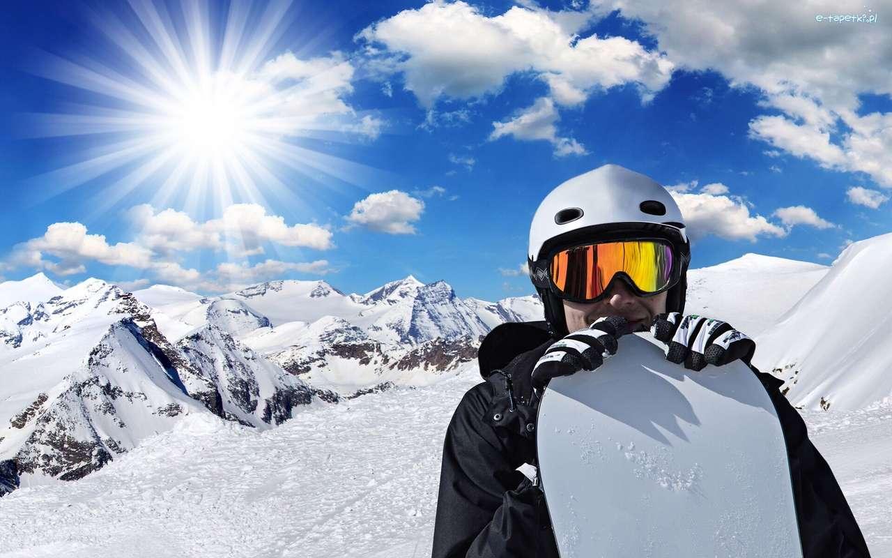 Sluneční paprsky, snowboarding - m (14×9)