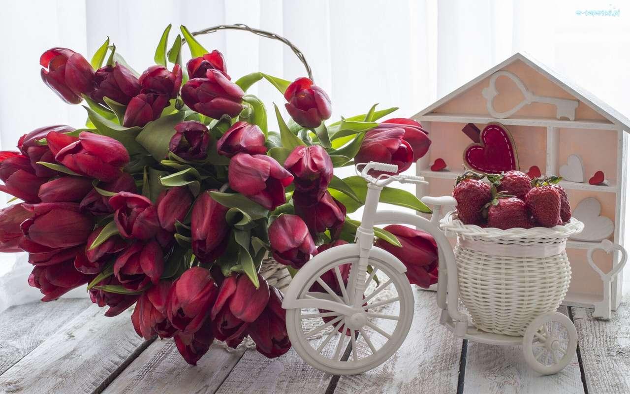 červené tulipány - m (14×9)