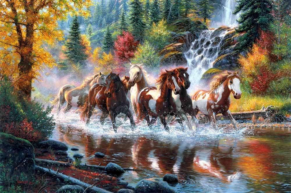 Paysage d'automne - Puzzle de paysage (12×8)