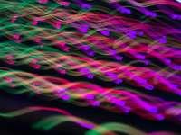 purple and pink light streaks
