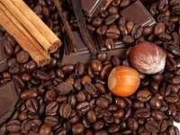 café, nozes, chocolate