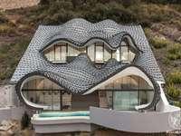 casa en el acantilado