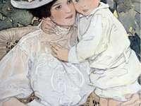 krásná fotka maminky s dítětem