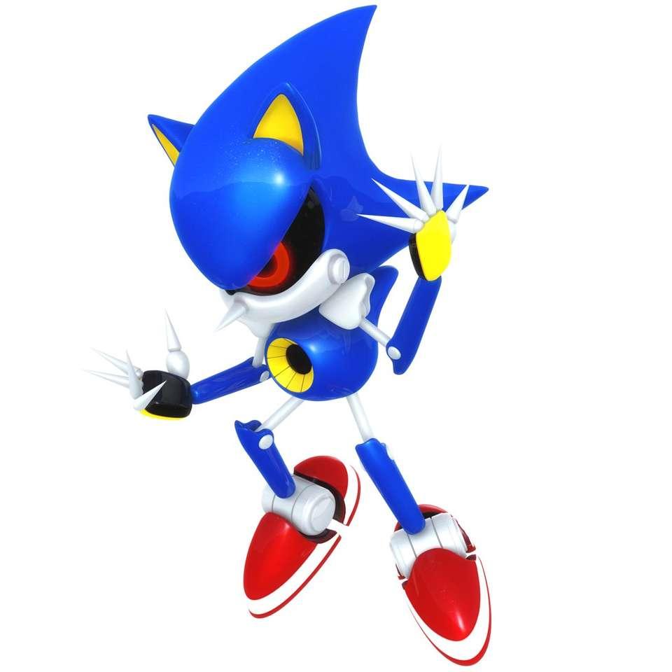 Metal Sonic - Metal Sonic robot Sonic a sündisznó mintájára (7×7)