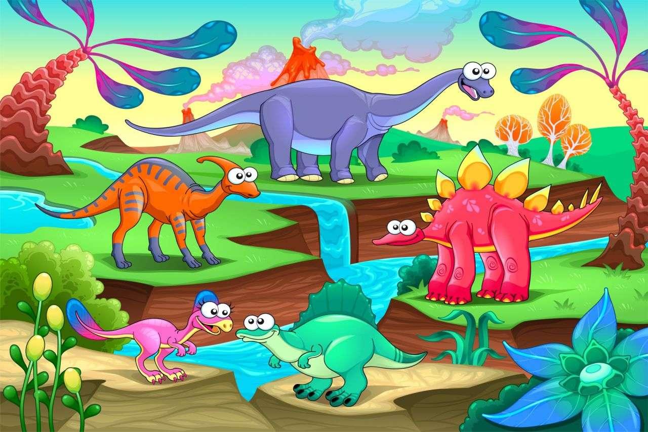 dinozaur - Rezolva puzzle-ul dinozaurilor (5×4)