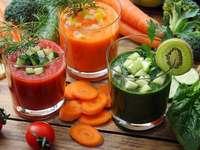 sucos de vegetais