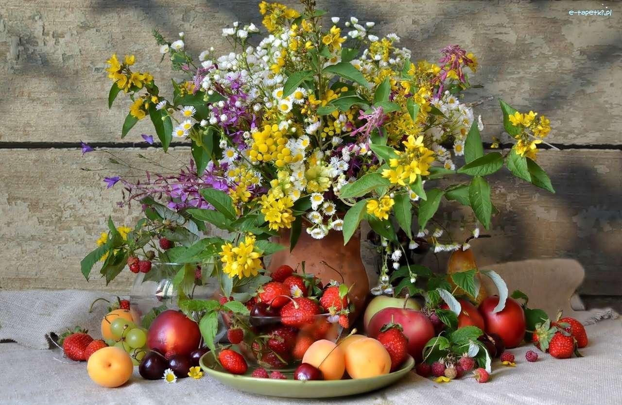 wilde bloemen, fruit - m (15×10)