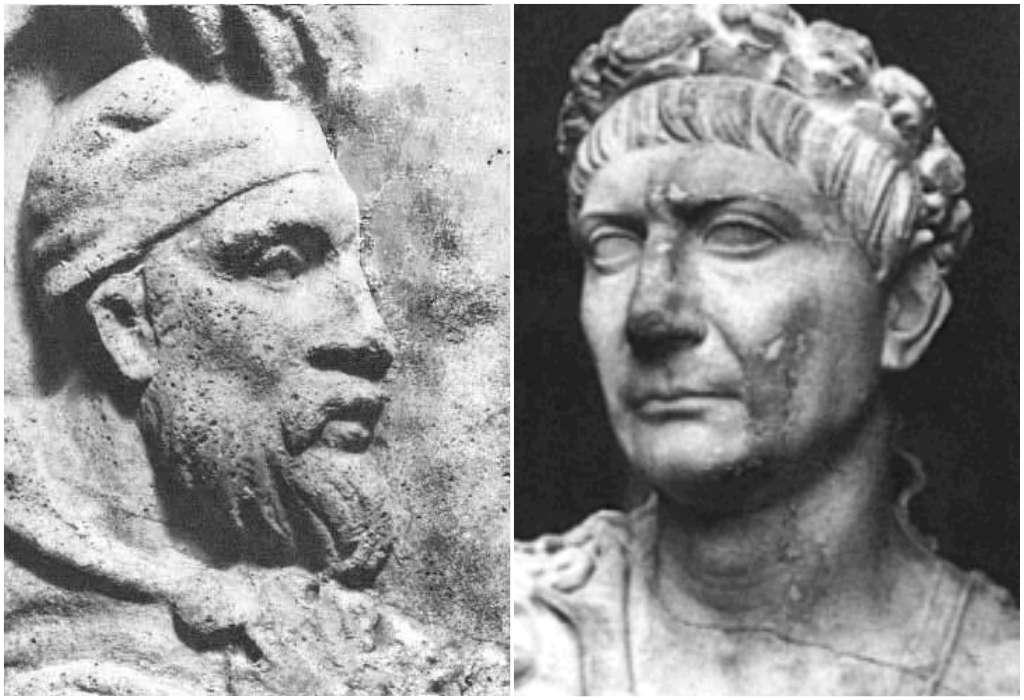 Traianus és Decebalus - A történelem órán használt puzzle: dákok és rómaiak (4×3)