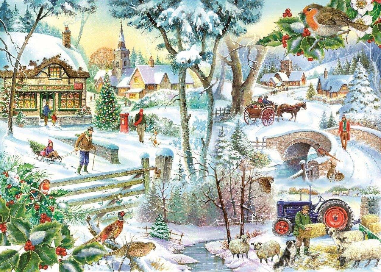 Εικονογραφημένο χειμερινό τοπίο