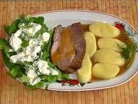 cou de porc cuit au four pour le dîner