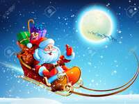 Дядо Коледа в облаците