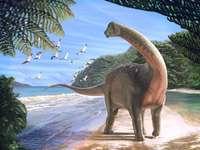 Dinoszaurusz egy tájon