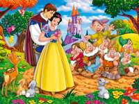 Snow White puzzle and the 7 dwarfs
