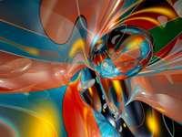 technologie informatique - abstraction colorée