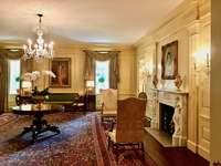 a room in a white house in washington