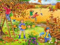 Herbst im Obstgarten